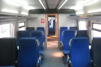 Салон вагона поезда
