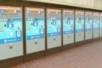 Автоматы по продаже билетов в Вашингтоне