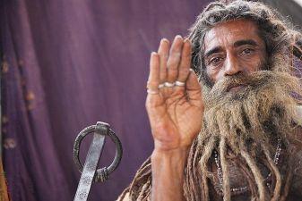 Индия фото– святой отшельник садху