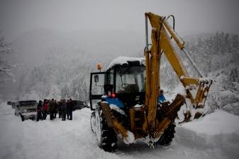 Расчистка снежного завала