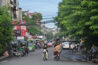 Улицы города в Камбодже