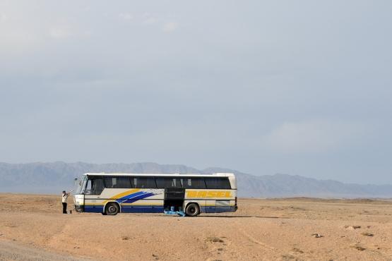 Автобус в степи