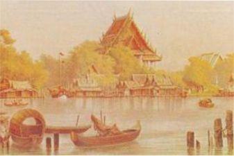 Бангкок фото – Старинная гравюра с видом Бангкока