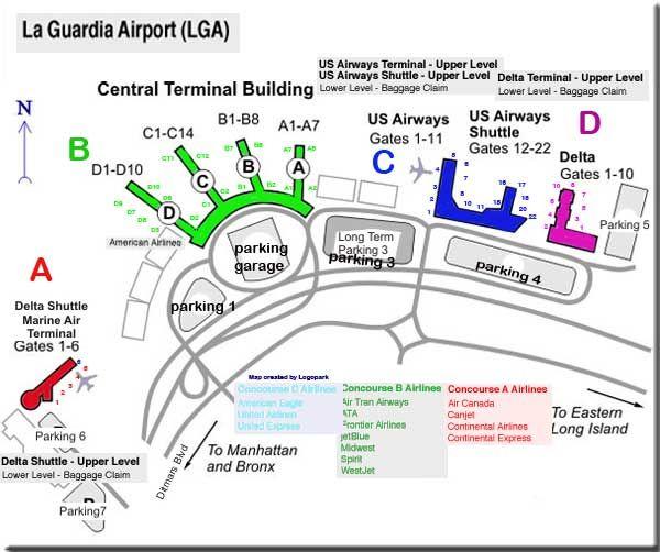 Аэропорт состоит из четырех