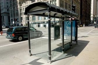 Автобусная остановка в Чикаго