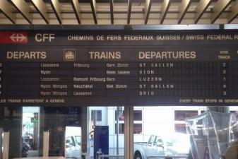 Расписание поездов из аэропорта Женевы