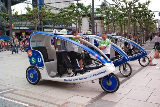 Велотакси во Франкфурте