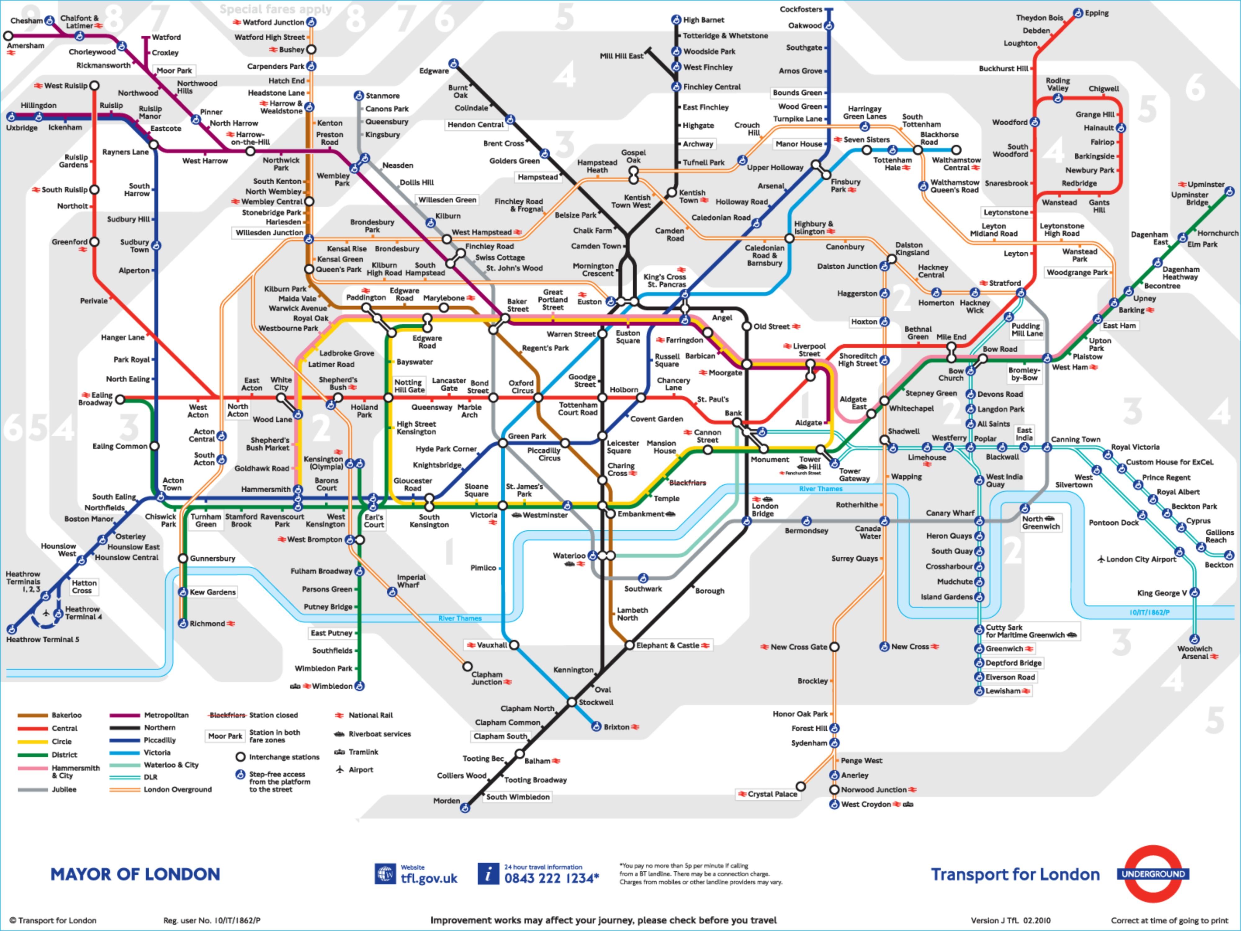 Karta Londona