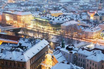 Зима в Граце