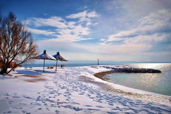 Пляжи Сплита в январе