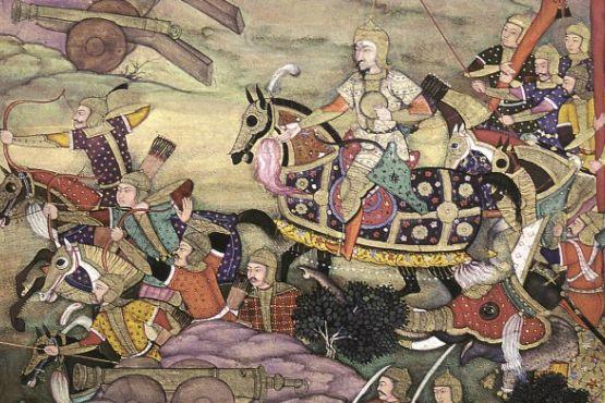 Индия фото– Бабур ведет войско в бой