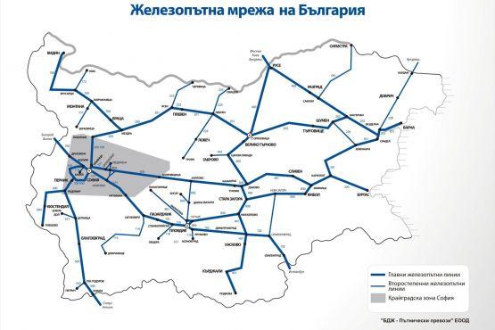 Болгария фото – схема движения поездов