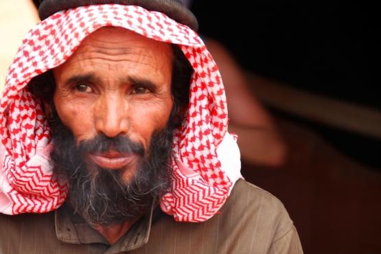 Иорданец в национальном головном уборе