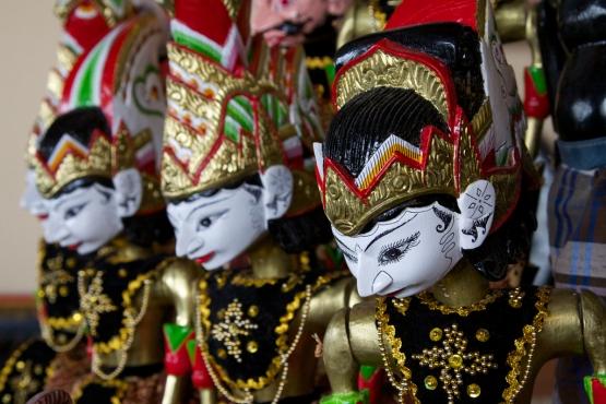 Куклы, участвующие в представлениях ваянг голек